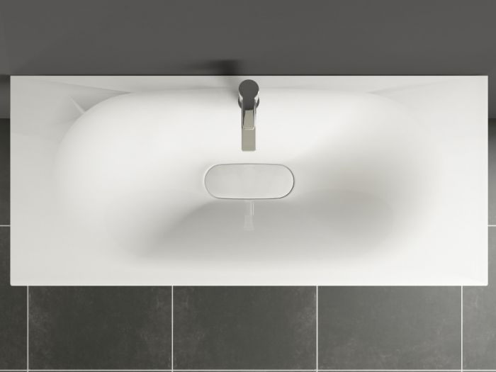 aqua bagno drop design keramik waschtisch 120cm wei. Black Bedroom Furniture Sets. Home Design Ideas