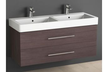 aqua bagno quadra soft keramik doppelwaschtisch 120cm. Black Bedroom Furniture Sets. Home Design Ideas